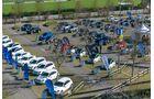 120 Fahrzeuge stehen zum Test bereit.