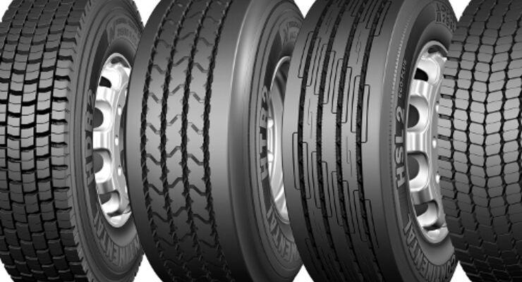 Acht neue Reifen von Continental