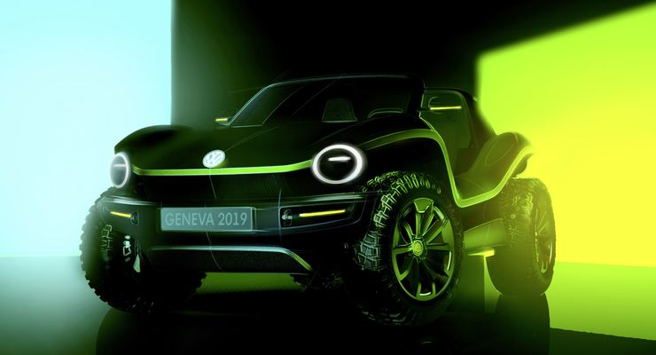 Auf dem Genfer Autosalon 2019 wird VW erstmalig den I.D. Buggy vorstellen.