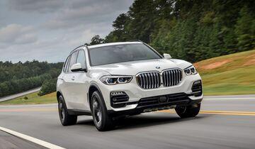 BMW X5, schräg, vorne, links, fahrend
