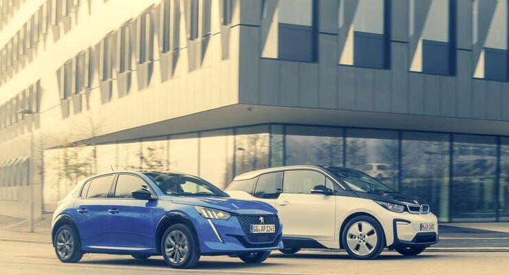 BMW i3 gegen Peugeot e-208