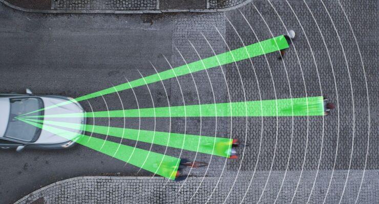 City-Notbremse Notbremssystem Notbremsassistent Assistenzsystem Volvo V60