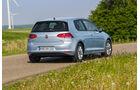 Der VW Golf TDI Bluemotion von hinten