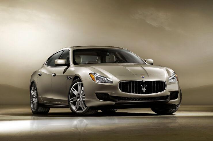 Der neue Maserati Quattroporte ist bei den Abmessungen gewachsen, wiegt aber gut 100 Kilo weniger.