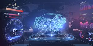 Digitales Auto