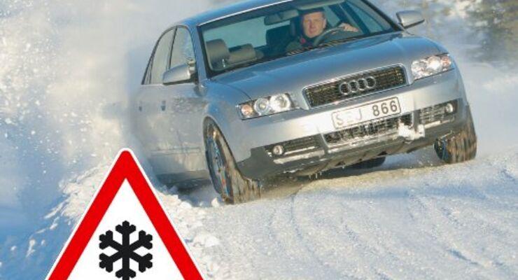 Fahren auf Eis und Schnee