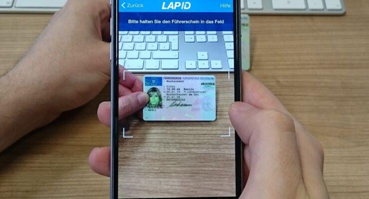 LapID App Führerscheinkontrolle