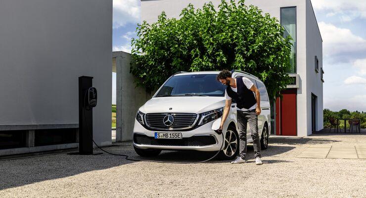 Mercedes EQV, Ladestation, laden, Wallbox