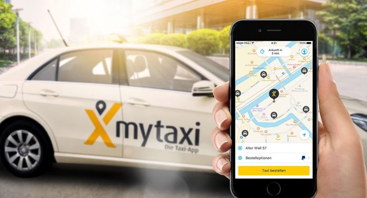 My, Taxi, App, mytaxi, smartphone
