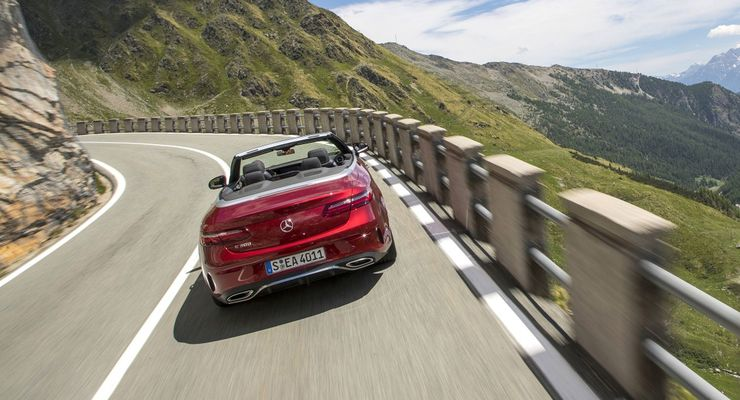 PFV E-Klasse Cabriolet Mont Blanc Region June 2017