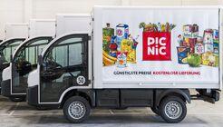 Picnic Elektro-Van Logistik Lebensmittel Lieferung