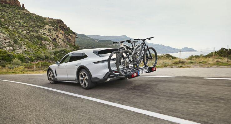 Porsche Taycan Cross Turismo, E-Auto, Elektroauto, Fahrradträger, Radträger, Heckträger