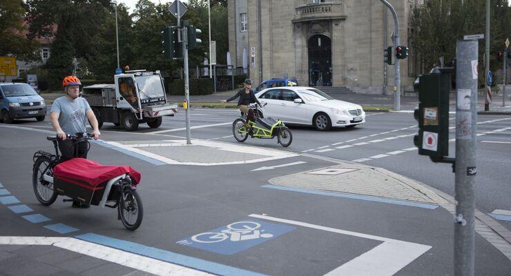 Radweg, Fahrrad, Lastenrad
