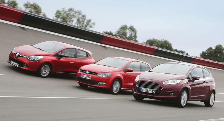VW Polo, Renault Clio und Ford Fiesta