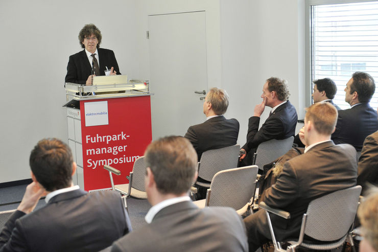 Werner Oltmann beim Fuhrparkmanager-Symposium